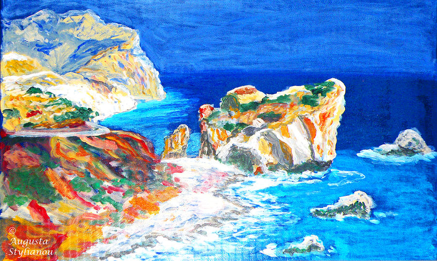 Aphrodites Birth Place Painting  - Aphrodites Birth Place Fine Art Print