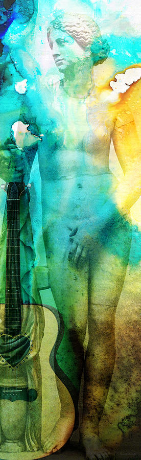 Aphrodites First Love - Guitar Art By Sharon Cummings Painting