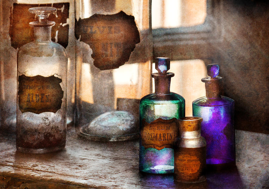 Doctor Photograph - Apothecary - Oleum Rosmarini  by Mike Savad