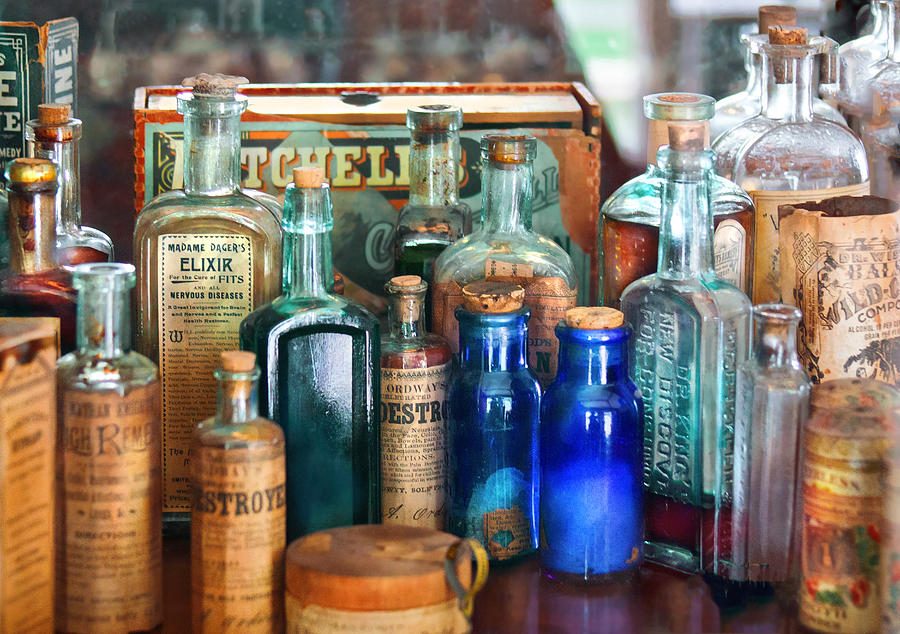 Pharmacy Photograph - Apothecary - Remedies For The Fits by Mike Savad