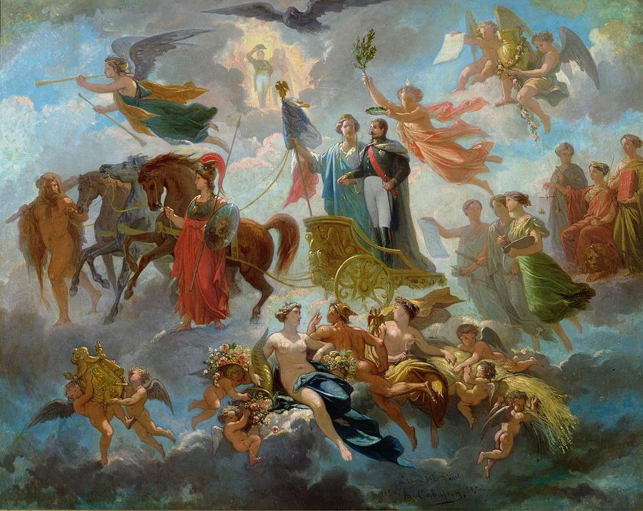 Allegorie A La Gloire Painting - Apotheosis Of Napoleon IIi by Guillaume-Alphonse Harang Cabasson