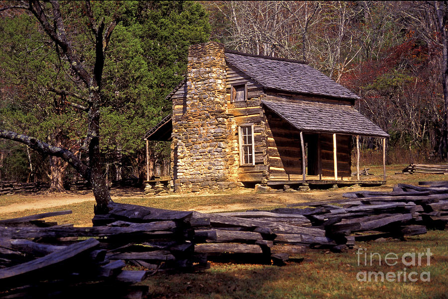 Log Cabin Photograph - Appalachian Homestead by Paul W Faust -  Impressions of Light