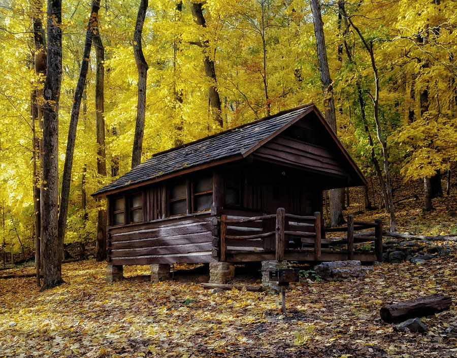 Appalachian trail shelter cabin photograph by mountain dreams for Appalachian mountain cabins