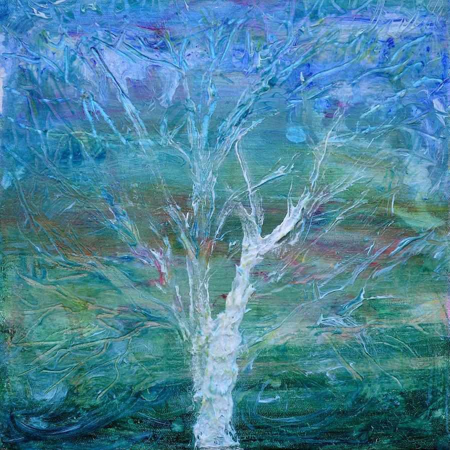 Tree Painting - Apparition by Regina Valluzzi