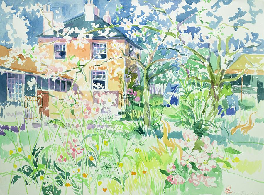 Apple Blossom Farm Painting