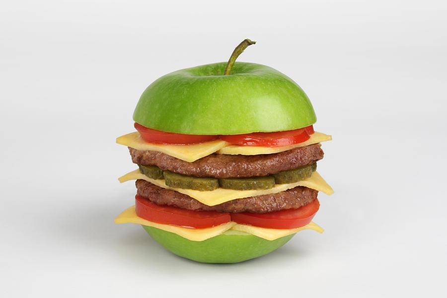 Apple burger by martin roller