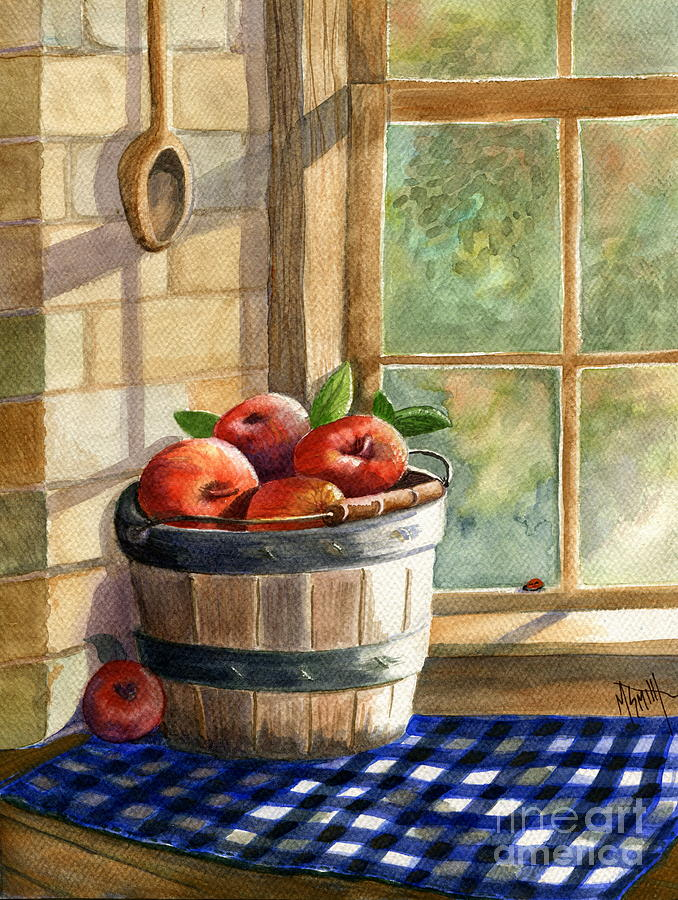 Apples Painting - Apple Harvest by Marilyn Smith