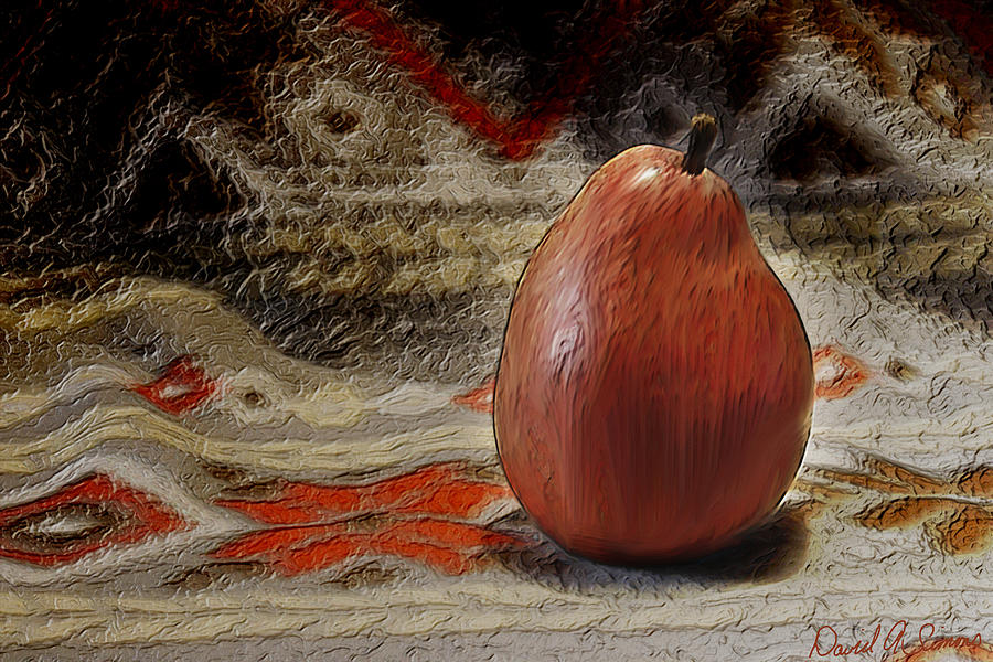 Apple Pear Digital Art  - Apple Pear Fine Art Print