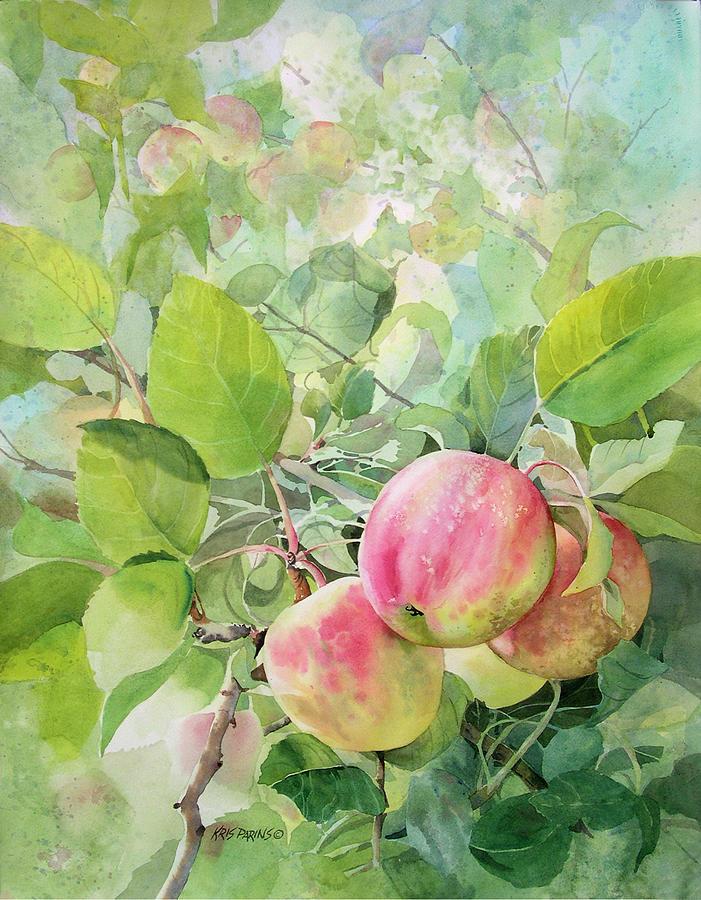 Kris Parins Painting - Apple Pie by Kris Parins