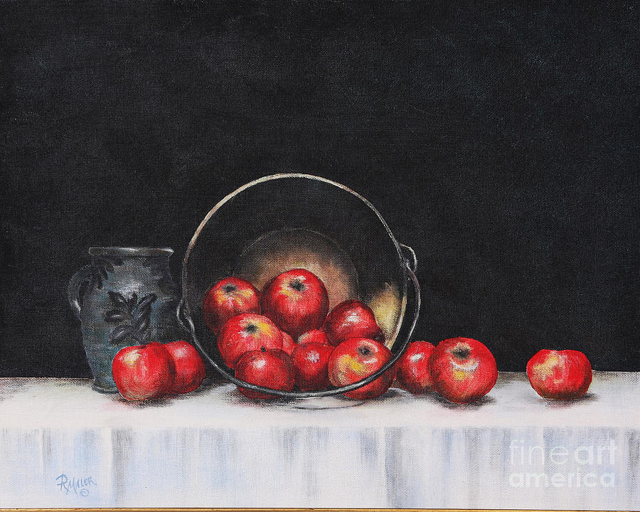 Apple Still Life Painting  - Apple Still Life Fine Art Print
