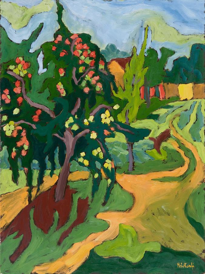 Apples; Fruit Tree; Garden; Orchard Painting - Appletree by Marta Martonfi Benke