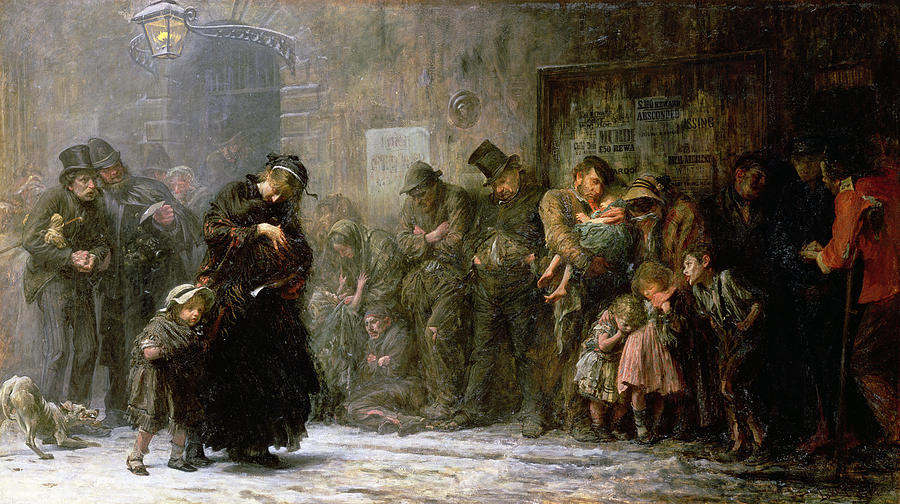 Applicants For Admission To A Casual Ward Painting - Applicants For Admission To A Casual by Sir Samuel Luke Fildes