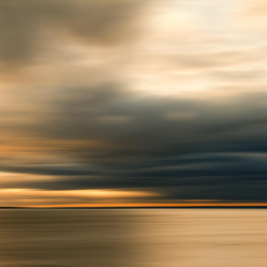 Impressionist Photograph - Approaching Evening Storm by Bob Retnauer