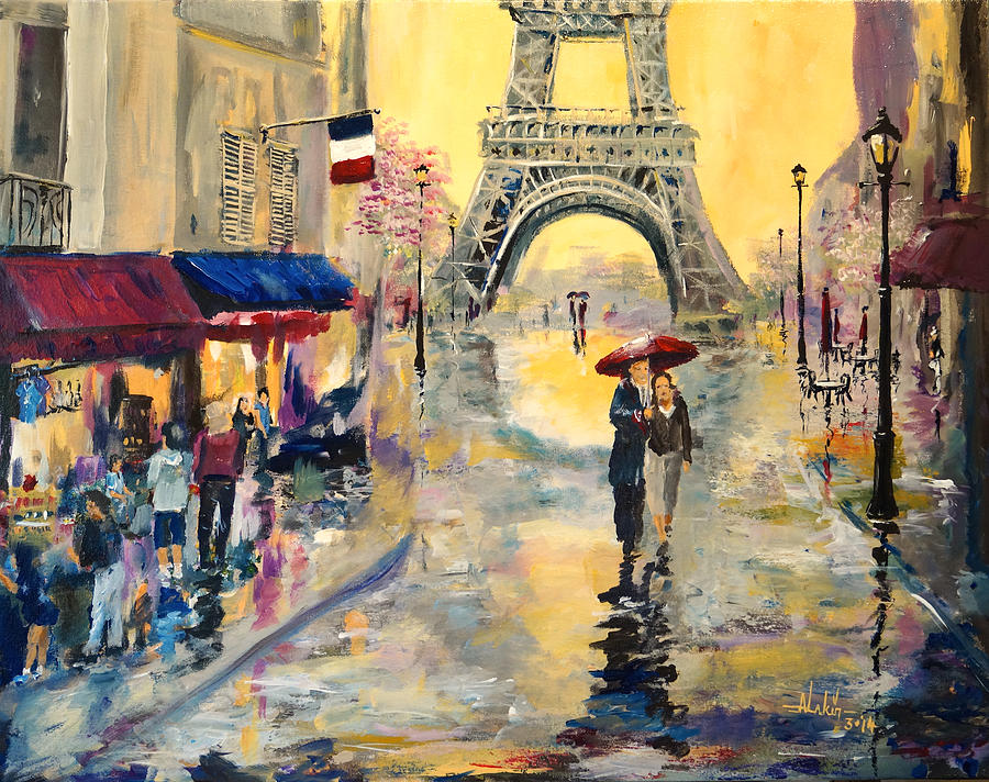 Paris Painting - April In Paris by Alan Lakin