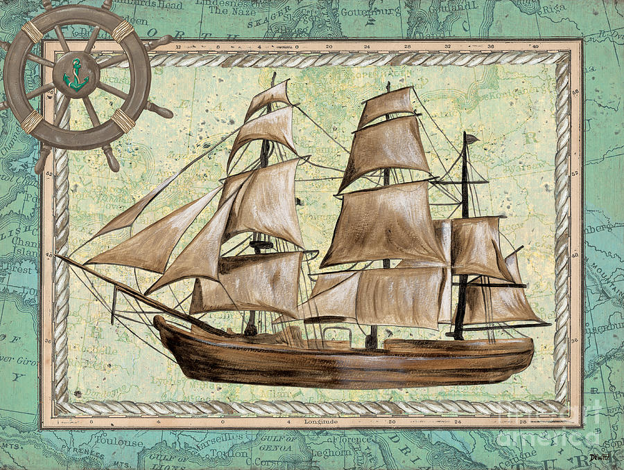 Aqua Maritime 1 Painting