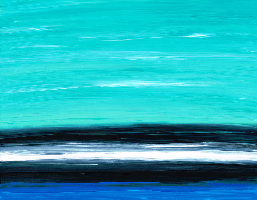 Aqua Sky - Bold Abstract Landscape Art Painting