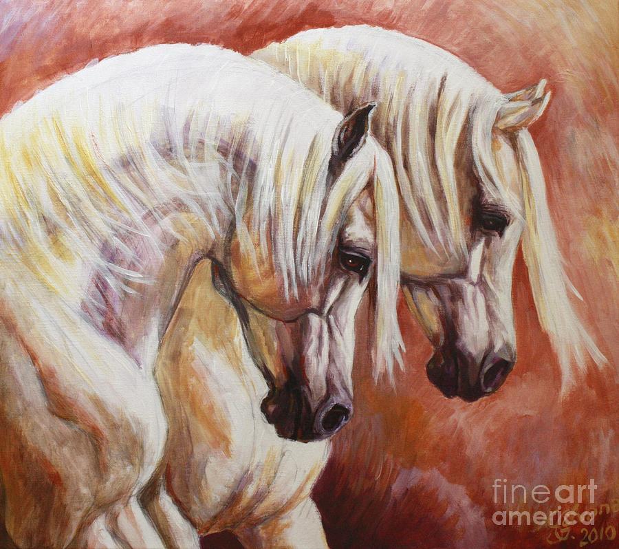 Arab Horses Painting