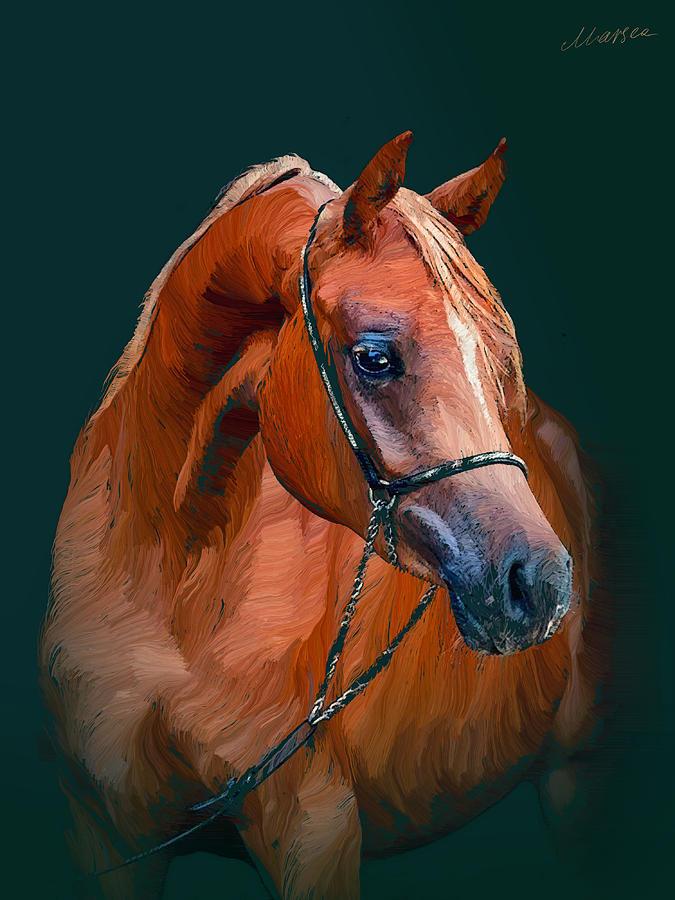 Horse Painting - Arabian Horse by Marina Likholat
