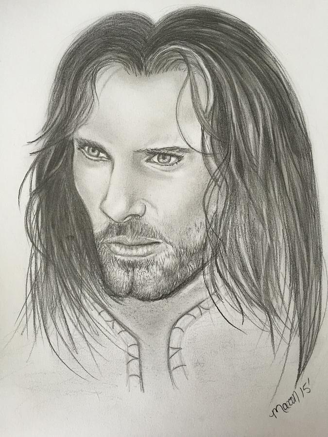 Aragorn Strider Lord Of The Rings Drawing By Manon Zemanek
