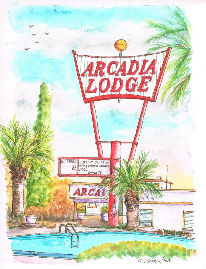 Arcadia Lodge In Route 66 Andy Devine Ave., Kingman, Arizona Painting