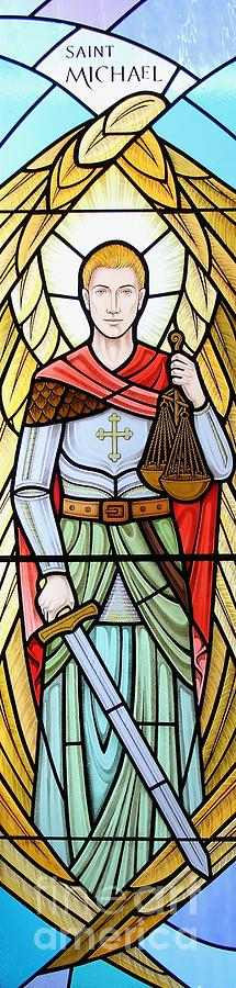 Stained Glass Glass Art - Archangel Michael by Gilroy Stained Glass