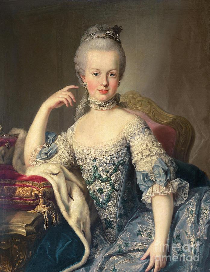 Archduchess Marie Antoinette Habsburg-lotharingen Painting