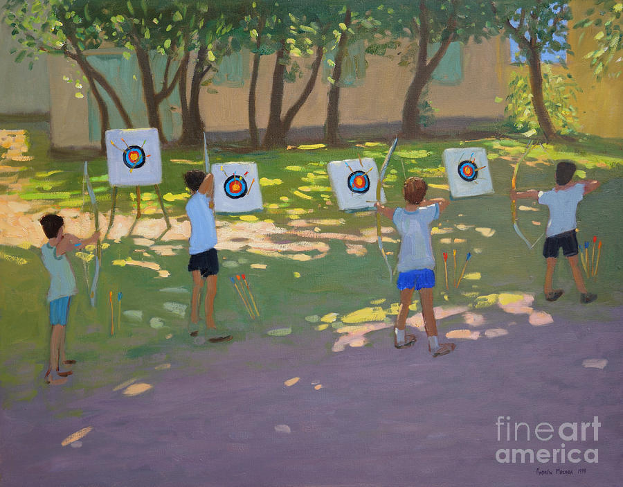 Archery Practice  France Painting