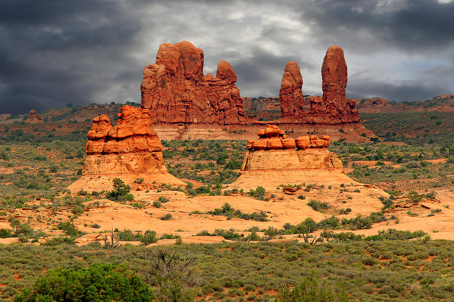 Arches National Park - A Picturesque Drama Photograph