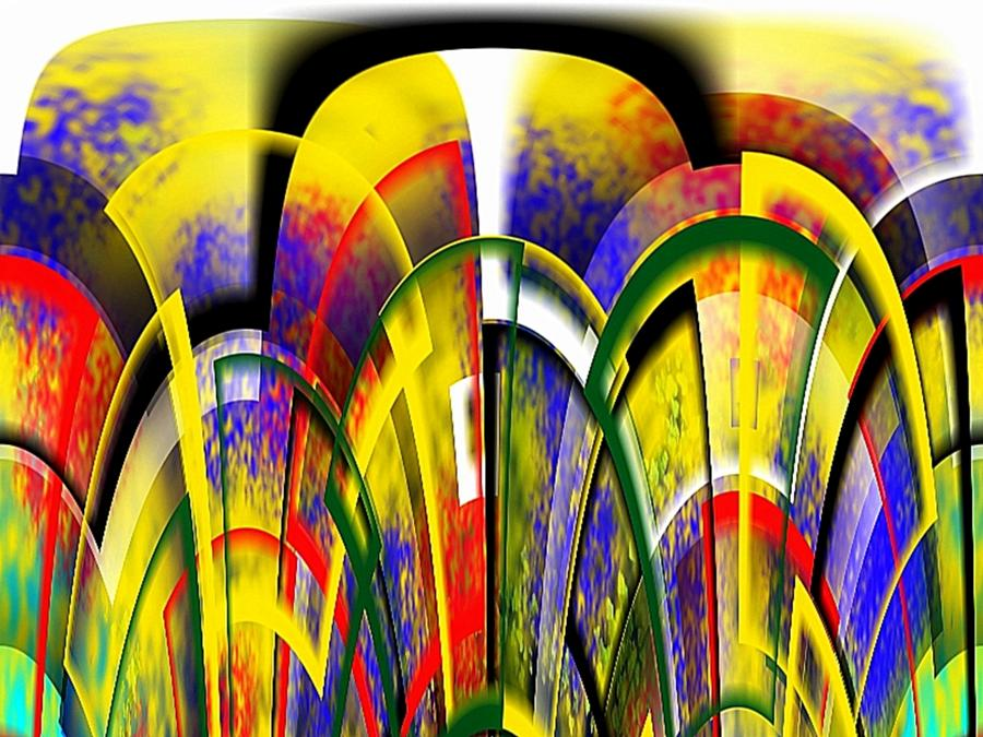 Arches Of Color Digital Art