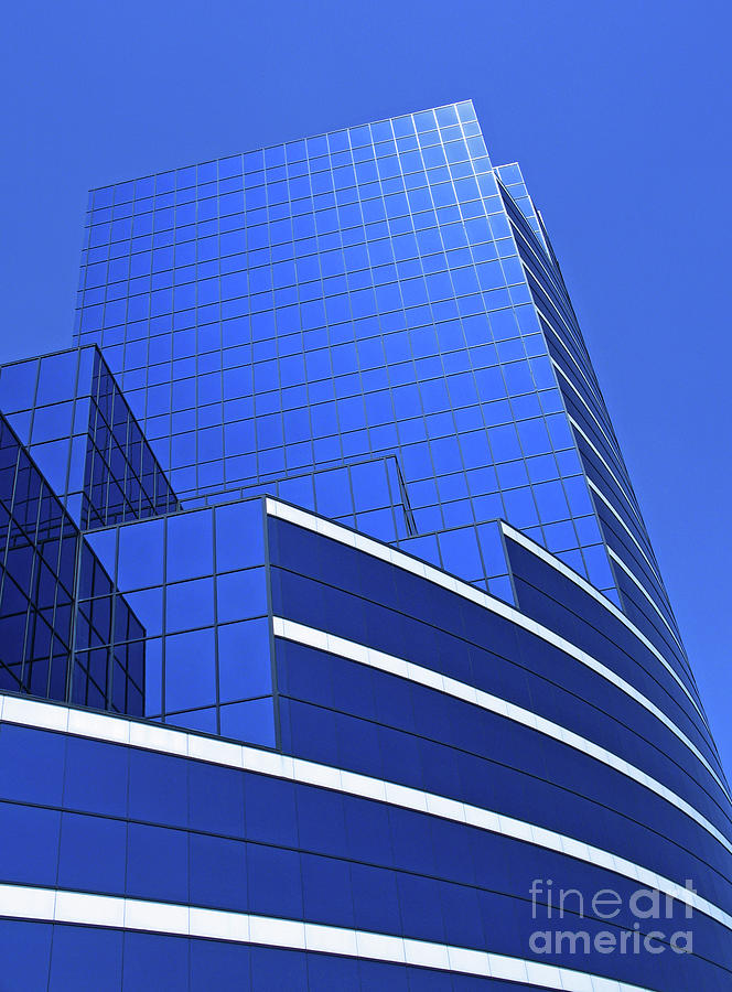 Architectural Blues Photograph  - Architectural Blues Fine Art Print