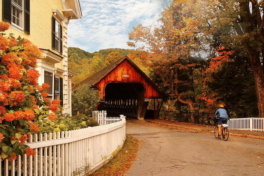 Architecture - Woodstock Vt - Entering Woodstock Photograph