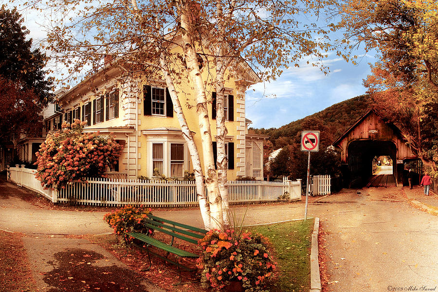 Savad Photograph - Architecture - Woodstock Vt - Where I Live by Mike Savad