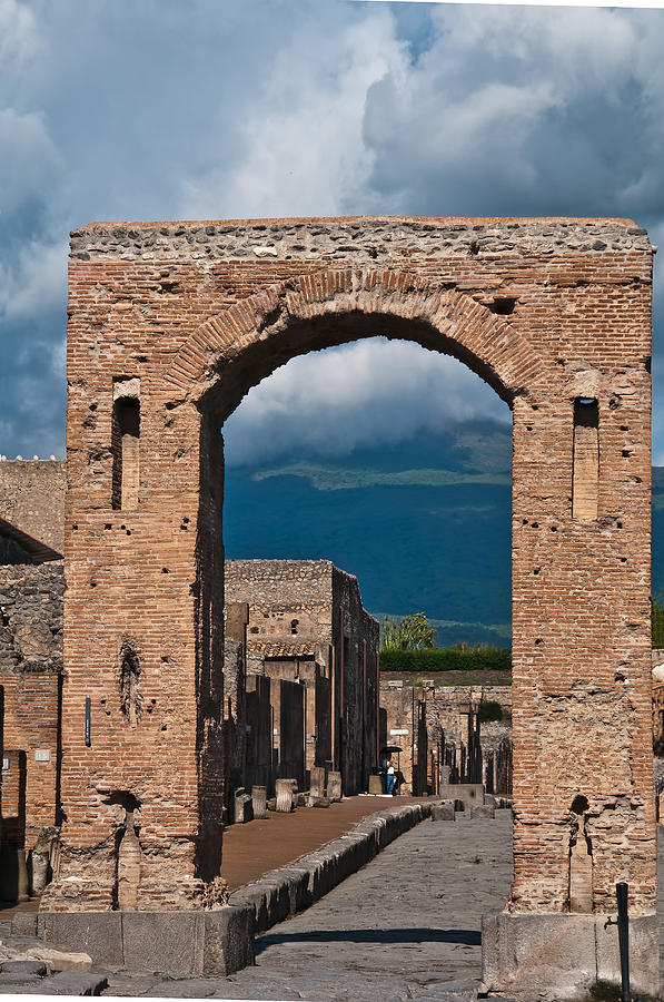 Pompeii Photograph - Archway by Marion Galt