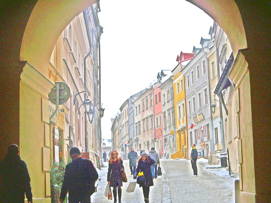 Art Prints  Poland  Photograph - Archway Wall Into Lublin / Old City by Rick Todaro