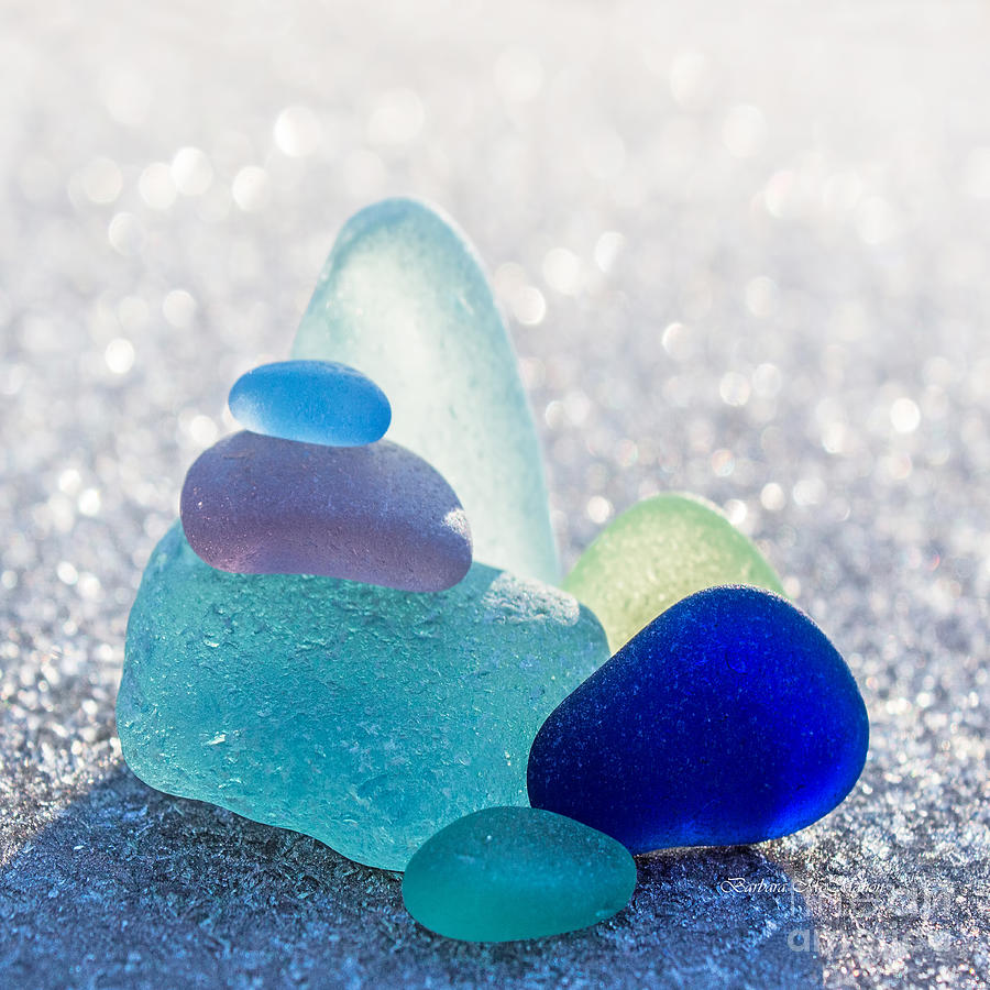 Seaglass Photograph - Arctic Peaks by Barbara McMahon