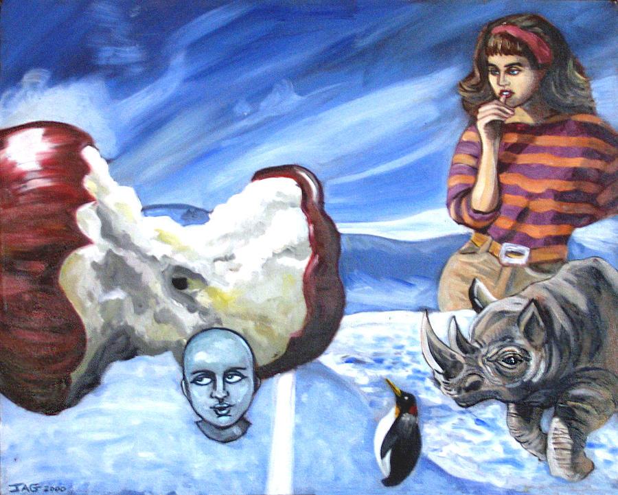 Penguin Painting - Arctic Soiree by John Ashton Golden