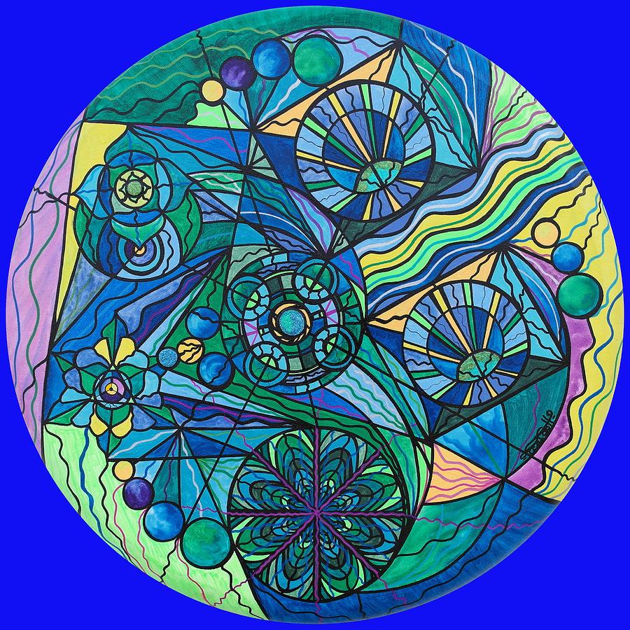 Arcuturian Immunity Grid Painting - Arcturian Immunity Grid by Teal Eye  Print Store