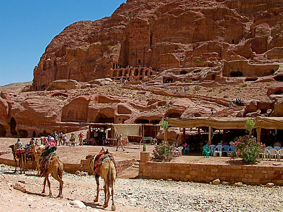 Area In Front Of Tombs Of The Kings In Petra-jordan Photograph  - Area In Front Of Tombs Of The Kings In Petra-jordan Fine Art Print