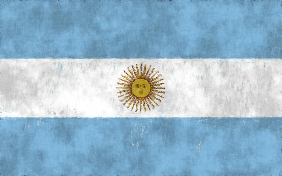 Argentina Digital Art - Argentina Flag by World Art Prints And Designs
