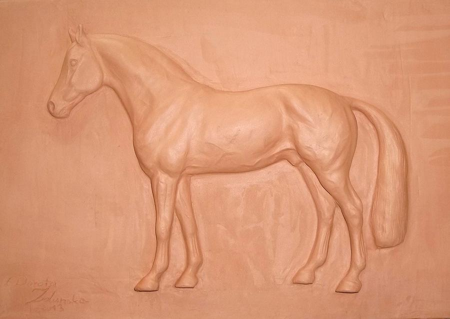 Argilio Dh- Sport Horse-sculpture Relief Sculpture