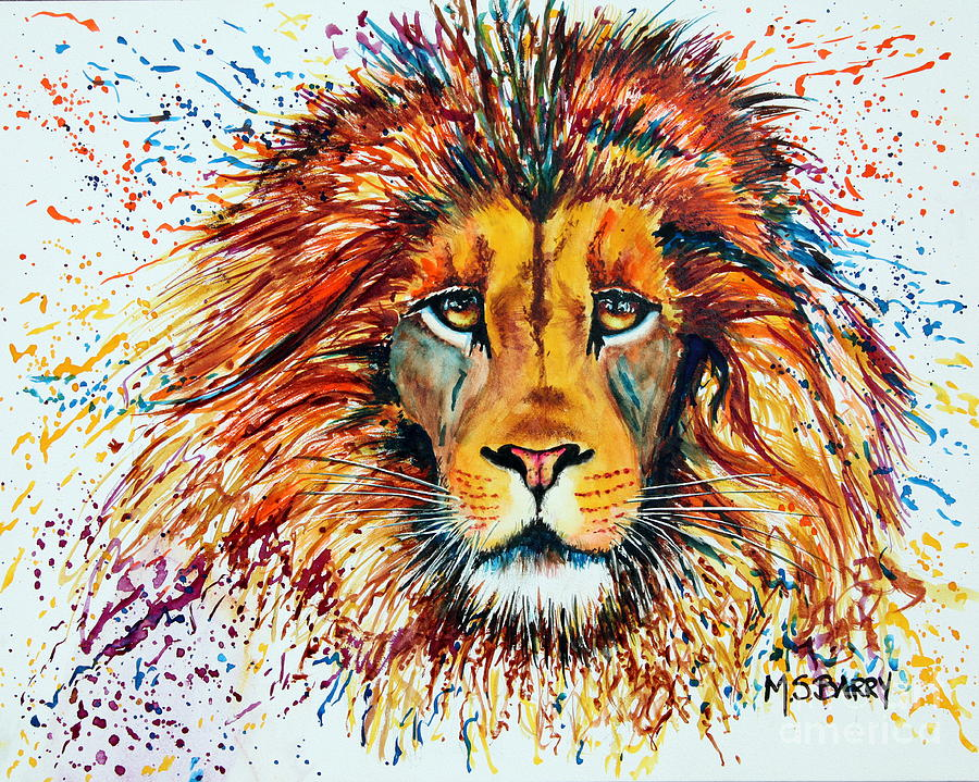 Lion Watercolor Painting Print The King Print Lion