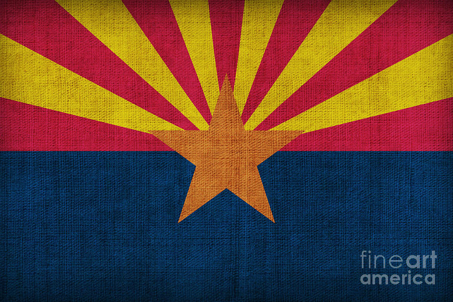 Arizona State Flag Painting