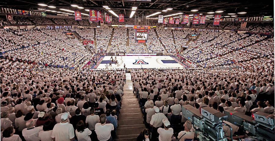 Arizona Wildcats White Out At Mckale Center Photograph