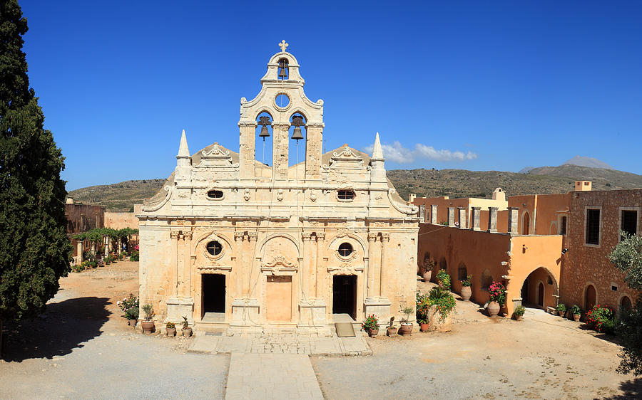 Arkadi Monastery In Crete Photograph