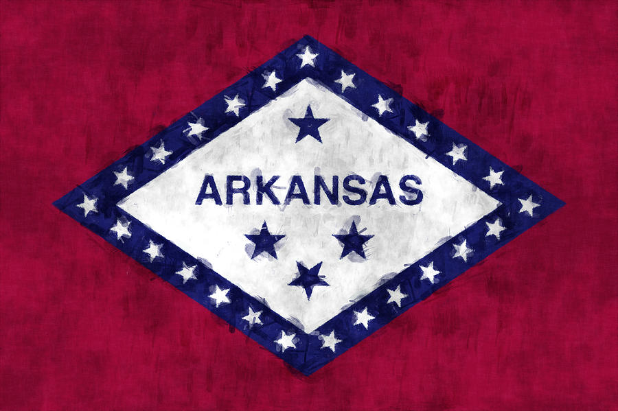 Arkansas Flag Digital Art  - Arkansas Flag Fine Art Print