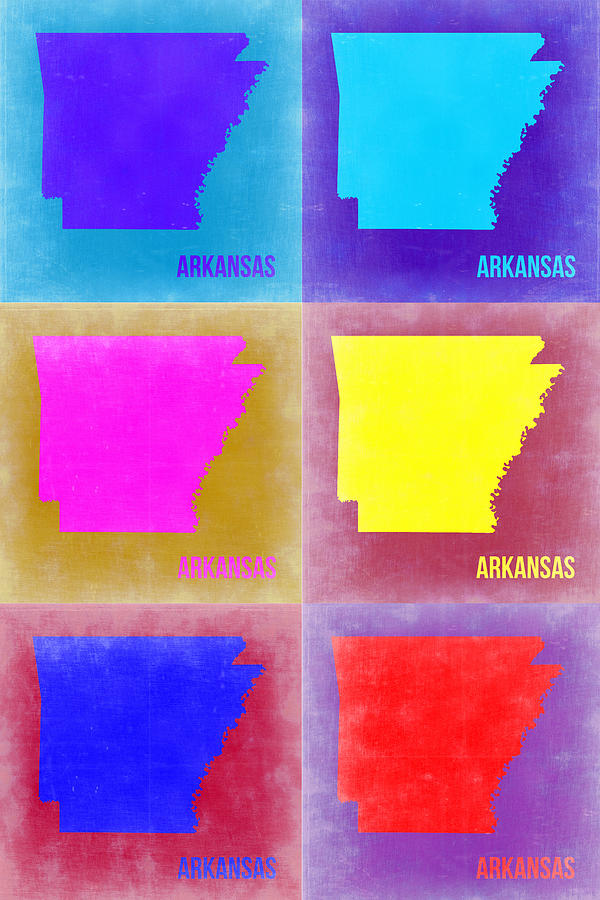 Arkansas Pop Art Map 2 Painting