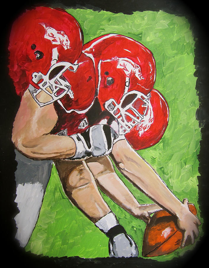 Arkansas Razorbacks Football Painting