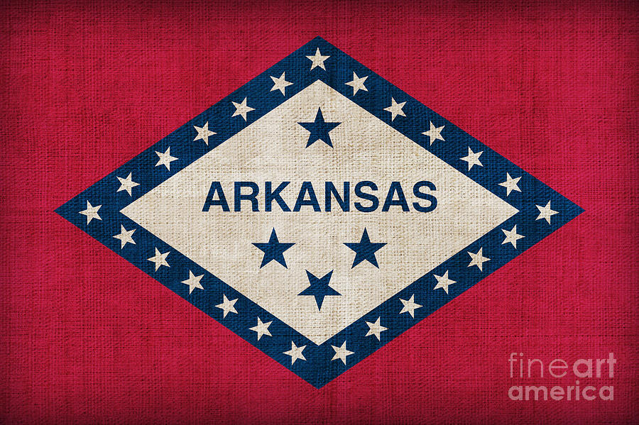 Arkansas State Flag Painting