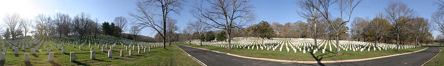 Metro Photograph - Arlington National Cemetery Panorama 2 by Metro DC Photography