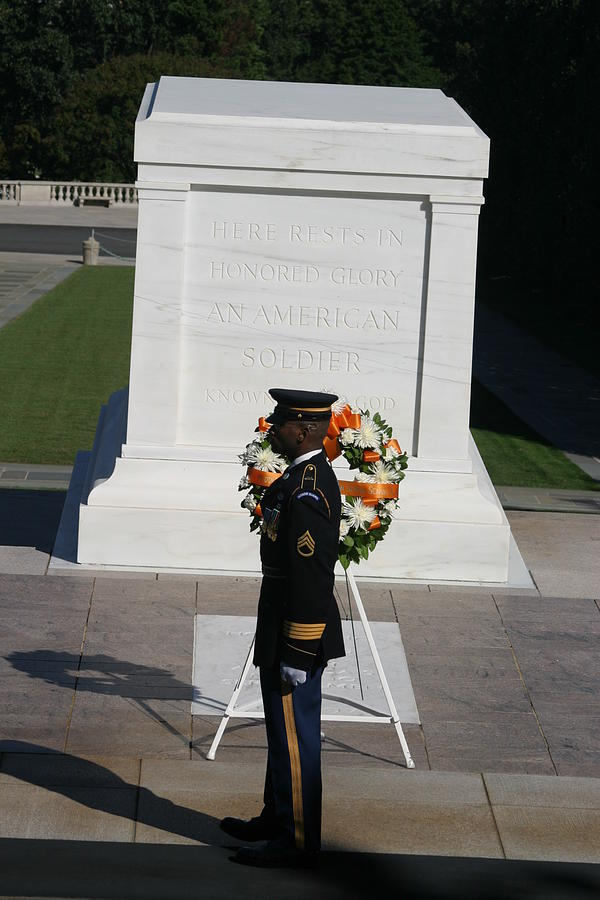 Arlington National Cemetery - Tomb Of The Unknown Soldier - 121212 Photograph  - Arlington National Cemetery - Tomb Of The Unknown Soldier - 121212 Fine Art Print